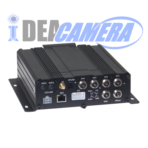 8CH H.264 720P HD AHD Vehicle Mobile Car DVR, Support Local storage