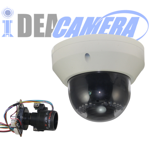 4MP IR Dome Auto Focus IP Camera,Motorized 2.8mm~12mm lens,VSS Mobile App,POE Optional