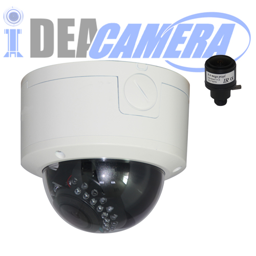 4K H.265 IP Dome Camera,3840*2160Pixels,Support face detection,VSS Mobile App