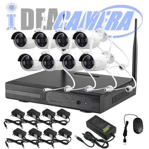 1.3MP Wifi NVR Kit,8CH P2P CCTV Kit,plug&play,Real-time Playback,Eseecloud App,50Meters wifi connections