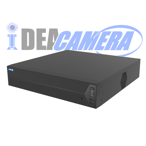 H.264 64CH NVR,8 SATA,16CH Realtime Playback,VSS Mobile App,Support Face Detection,Support 4K